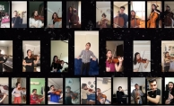 Bursa'da, orkestradan video konferansla konser