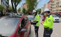 İnegöl'de sürücülere broşür dağıtıldı