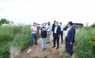 Sel mağduru çiftçilere ziyaret