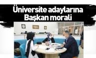 Üniversite adaylarına Başkan morali