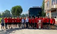 İnegölspor play- off için Antalya' ya hareket etti