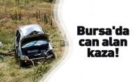 Şarampole yuvarlanan araç sürücüsü hayatını kaybetti