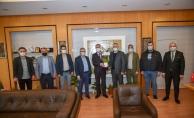 Mobilyacılardan Başkan Taban'a ziyaret