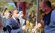 Babacan#039;ın İnegöl ziyaretine vatandaşlar ilgi göstermedi