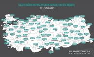 İllere göre haftalık vaka haritası açıklandı (11-17 Eylül)