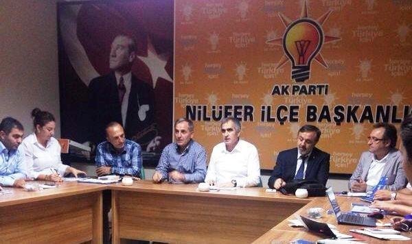 Ak Parti Nilüfer İlçe Yönetimi Toplandı