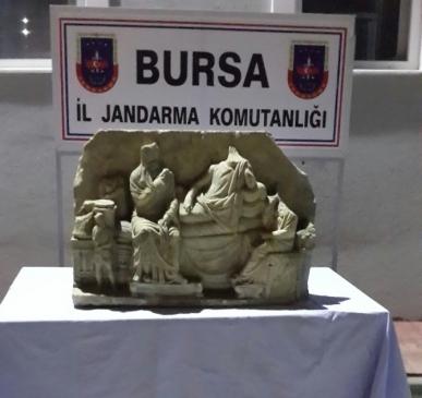 Bursa'da Eski Roma Dönemine Ait Tarihi Eser Ele…