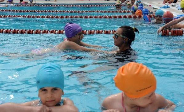 Çocuklar Yaz Aylarını Spor Yaparak Geçiriyor
