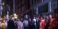 Galatasaray taraftarı birbirine girdi
