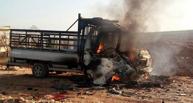 Hainler Azez'de sivilleri hedef aldı: 7 yaralı