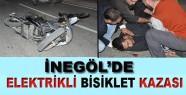 inegöl'de elektrikli bisiklet kazası