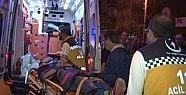 İtfaiye aracı servis minibüsüne çarptı: