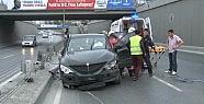Kağıthane'de trafik kazası: 3 yaralı