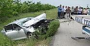 Otomobil şarampole uçtu: 1 ölü, 3 yaralı