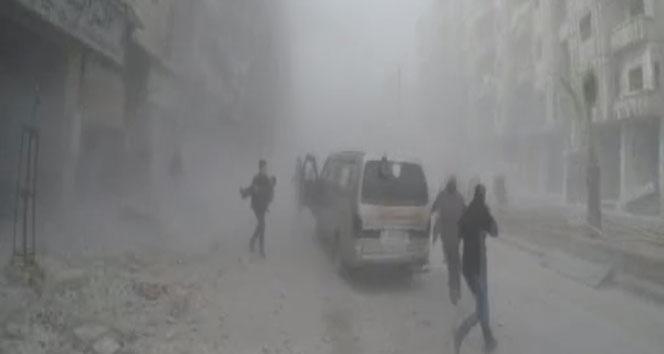 Rusya ve Suriye uçakları Doğu Gota'yı bombaladı: 50 ölü