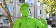 Sanat için yeşile boyandı