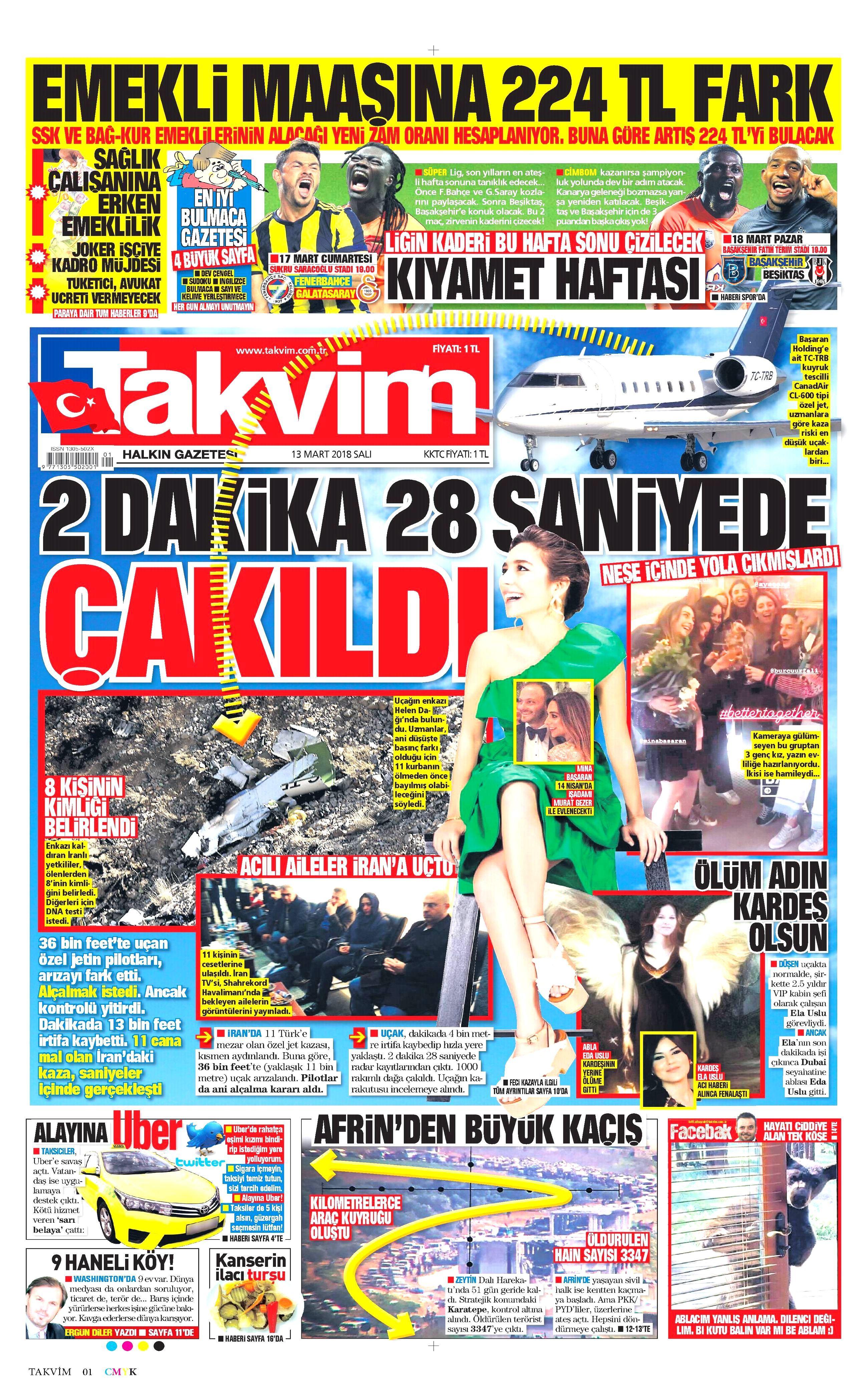 Takvim Gazetesi - Takvim Manşet Oku - Haberler