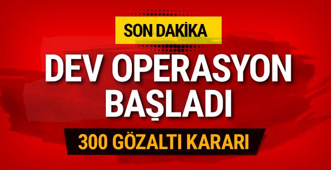 TSK'da FETÖ operasyonu! 300 kişi hakkında gözaltı kararı