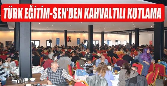 Türk eğitim-sen'den kahvaltılı kutlama