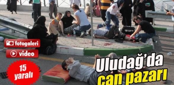 Uludağ'da can pazarı: 15 yaralı