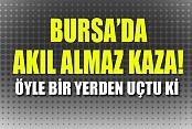 Bursa'da Kamyonet Köprüden Uçtu: 1 Yaralı
