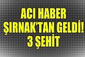 Şırnak'ta askere mayınlı saldırı: 3 şehit