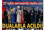 Yavuz Sultan Selim Köprüsü dualarla açıldı