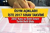 2017 Kpss ve Öabt Sınavı Tarihi Belli Oldu
