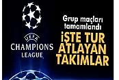 Şampiyonlar Ligi'nde grup maçları tamamlandı