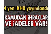 Resmi Gazete'de 4 yeni Kanun Hükmünde Kararname yayımlandı