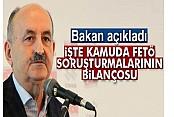 Bakan Müezzinoğlu, kamuda FETÖ soruşturmalarının bilançosunu açıkladı