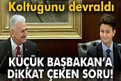 Başbakan Yıldırım, koltuğunu çocuk başbakana devretti
