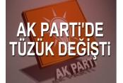 AK Parti'de tüzük değişti!