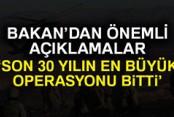 Bakan Soylu: 'Son 30 yılın en önemli terör operasyonlarından bir tanesi de sona ermiştir'