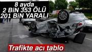 Trafikte acı tablo: 8 ayda 2 bin 353 can kaybı, 201 bin yaralı