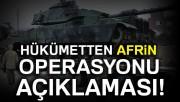 Bakan Canikli'den Afrin açıklaması: Bu harekat yapılacak