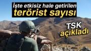 TSK: '1595 terörist etkisiz hale getirildi'