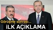 Cumhurbaşkanı Erdoğan ile görüşen BBP lideri Destici'den açıklama