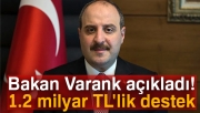 Bakan Varank açıkladı: 1.2 milyar TL'lik destek