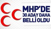 MHP'de 30 belediye başkan adayı belli oldu