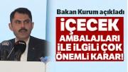 Bakan Kurum, 2023 Türkiye'si için önemli 24 maddeyi açıkladı
