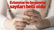 Evlenme ve boşanma sayıları belli oldu