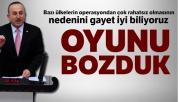 Dışişleri Bakanı Çavuşoğlu: 'Bazı ülkelerin operasyondan çok rahatsız olmasının nedenini gayet iyi biliyoruz'
