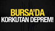 Bursa'da 3.2 büyüklüğünde deprem... Bursa'da iki gün arayla yaşanan ikinci deprem, merkez üssü Bursa olan 3.2 büyüklüğündeki deprem yerin yaklaşık 10.2 km altında meydana geldi.
