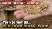 Bakan Pakdemirli: 'Cumhuriyet tarihinin en kapsamlı yerli tohum seferberliğini başlatıyoruz'