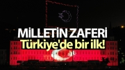 Türkiye'de bir ilk! 200 drone ile 15 Temmuz gösterisi