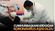Cumhurbaşkanı Recep Tayyip Erdoğan, aşı olduğu anları paylaştı!