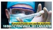 Türkiye'de son 24 saatte 18.052 koronavirüs vakası tespit edildi