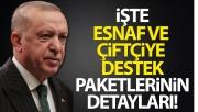Cumhurbaşkanı Erdoğan, esnaf ve çiftçiye destek paketlerini açıkladı!