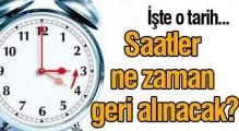 26 Ekim Pazar günü saatler 1 saat geri alınıyor